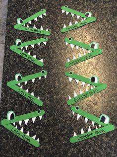 Greater Than/Less Than Alligators 🐊 A DIY I made yesterday 2nd Grade Activities, Kindergarten Math Worksheets, Kindergarten Lessons, Kindergarten Activities, Preschool Crafts, Math For Kids, Lessons For Kids, Reptiles, Less Than Greater Than