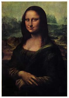 I've always loved this painting. This is the Mona Lisa painted by Leonardo da Vinci during the European renaissance.