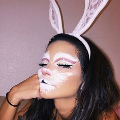 Looking for for ideas for your Halloween make-up? Browse around this website for creepy Halloween makeup looks. Creepy Halloween Makeup, Halloween Makeup Looks, Halloween Make Up, Halloween Party, Rabbit Halloween, Halloween Costumes, Halloween Contacts, Halloween Ideas, White Rabbit Makeup
