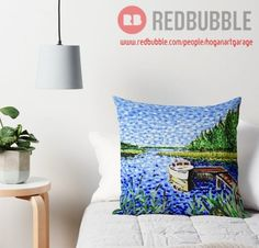 ''The Calypso'' Throw Pillow by Alan Hogan Floor Pillows, Bed Pillows, Framed Prints, Canvas Prints, Art Market, Pillow Design, Finland, Art Boards, Boats