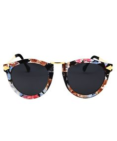 27b6458d6fa Cat Eye Polarized Women Sunglasses Classic Retro Driving Glasses - Floral  Frame With Black Lens - CK17YRI9387