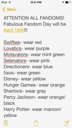 Repin to all the fandoms...Arianators wear peach or coral pink :)<<<FNaF fandoms wear light purple :D
