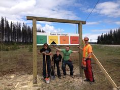 Just finished building our first FRI sign. (Fire Rating Index) Take a look at the Mackenzie Junction if your driving though to see it.