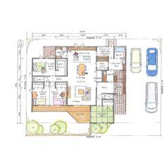 いい間取り例 Interior And Exterior, Interior Design, Japanese House, House Plans, Sweet Home, Floor Plans, House Design, Flooring, How To Plan