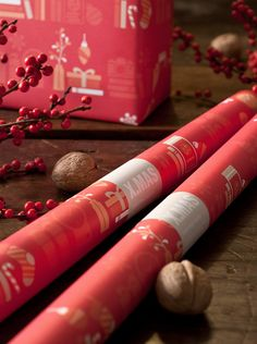 Gift Wrap – X.MAS WRAPPING PAPER RED – a unique product by GOODSANDBETTER on DaWanda