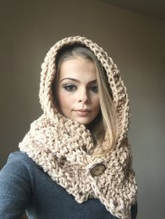 Originální ručně háčkovaná šála s kapucí :: Caro - Handmade Knit Crochet, Knitting, Crocheting, Accessories, Fashion, Crochet, Moda, Tricot, Fashion Styles