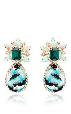 Galaxy Sequin Earrings In Mint by Shourouk for Preorder on Moda Operandi  Teardrop Earrings e365fc1e575b
