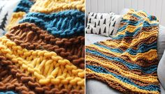 Oooo my yes, this is lovely!!  The Breezy Sofa Blanket - free knitting pattern over at the blog Pickles.