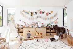Hanging twine with clothespins in your child's room to allow them to create a rotating gallery of all their creations and what's inspiring them.
