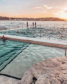 Sunrise dips at the iconic Bondi Icebergs. The Places Youll Go, Places To Go, Bondi Icebergs, The Beach People, Australian Beach, Bondi Beach, Beach Pictures, Traveling By Yourself, Travel Inspiration