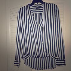 Apt 9 Black and White Stripped Blouse Only worn once size XL. Beautiful Blouse. Apt. 9 Tops Blouses