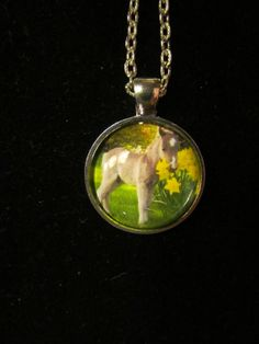 Baby Horse Pendant Necklace or Keychain by EverythingsDuckyBout, $9.99