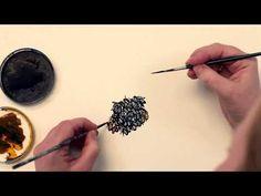 Bees carefully painted with both hands, artist Birgit Bjerre/ www.birgitbjerre.dk