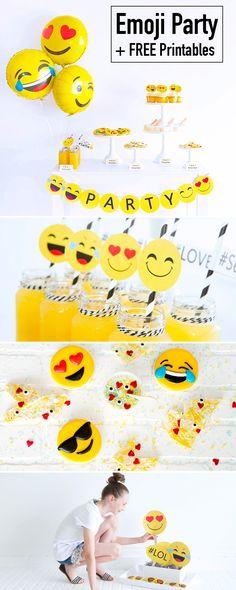 Emoji Party + Printables Emoji Ideas                                                                                                                                                      More