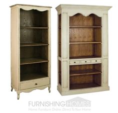 Take the doors off of the tv armoire, and have a beautiful bookcase. French Provincial Furniture, French Furniture, White Furniture, Furniture Decor, Tv Armoire, Wooden Projects, Diy Projects, Little Girl Rooms, French Country Decorating
