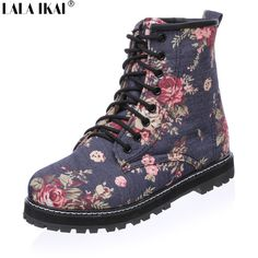 5c3464257 Aliexpress.com   Buy 2016 Floral Print Women Martin Boots Plus Fur Winter  Boots Plus Size 11 12 Ankle Boots Women Winter Shoes XWN0297 5 from  Reliable boot ...
