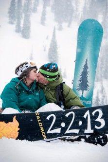 Snowboarding Engagement Shoot