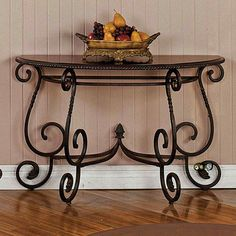Nice Early 20th Century French Wrought Iron Marble Top Console Table | Marble  Top, French And Marbles