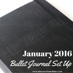 Tiny Ray of Sunshine: January 2016 Bullet Journal Set Up #bulletjournal