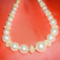 Vintage Faux Pearl Beaded Necklace by BorrowedTimes on Etsy