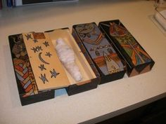 how to make a tomb out of a shoebox