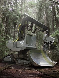 Harvester by Renato Gonzalez, Chile Heavy Construction Equipment, Construction Machines, Heavy Equipment, Logging Equipment, Industrial Machine, Engin, Heavy Machinery, Harvester, Machine Design