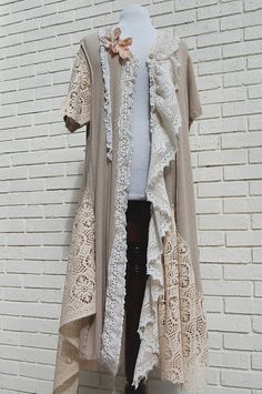Shabby chic tattered coat