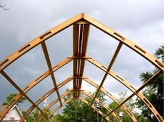 The bow roof shed made of white pine and greenhouse for Gothic arch greenhouse plans