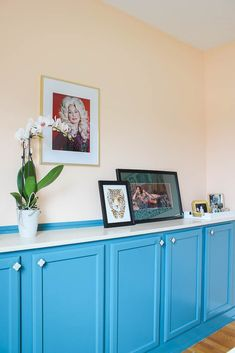 DIY Built In Cabinets - use prefab unfinished stock wall cabinets to create storage for your home. Stock Kitchen Cabinets, Used Cabinets, Dining Room Sideboard, Sideboard Cabinet, Built In Cabinets, Built In Shelves, Diy Cabinets, Built Ins, Sideboard Ideas