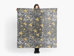 Gold Shiny Stars Silver Faux Glitter by moondreamsmusic