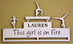 Gymnastics Medal Display / Personalized Medal Display Rack – Personalized Medal Holders: Custom Wall Decor: Trophy Shelves