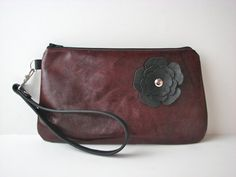 Your place to buy and sell all things handmade Distressed Leather, Red Leather, Clutch Purse, Dark Red, Saddle Bags, Pouch, At Least, Purses, Personalized Items