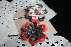 Set of Two Handmade Embellished Bird/Music/Plaid by DefaultToLove, $5.00