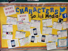 Life is Better Messy Anyway: What if our Characters were on Social Media?  (A little old fort classroom, but I just love this idea!!!)