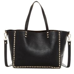 ⚡️Flash Sale⚡️Black Steve Madden Studded Tote This is a Reposh...it is a BEAUTIFUL bag, and I purchased it from a wonderful posher.  100% Authentic Steve Madden Stud-Trimmed Bag. Black Tote w/Gold Studs. It was BRAND NEW. I've used it a few times since the first week of March. It's basically like new!  I'd keep it but I really need a tote that zips for work. My loss is your gain. I'm listing it for what I paid $87. ⚡️Flash Sale In Progress⚡️ Steve Madden Bags Totes