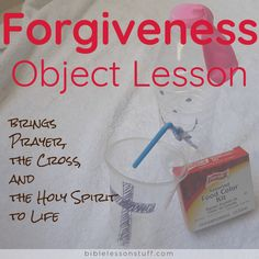 Simple Forgiveness Object Lesson brings Prayer, the Cross, and the Holy Spirit to Life - Bible Lesson Stuff Kids Church Lessons, Youth Lessons, Bible Lessons For Kids, Children Church, Bible Crafts For Kids, Preschool Bible, Bible Study For Kids, Kids Bible, Children's Bible