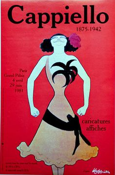 1981 Exhibition poster for Leonetto Cappiello.   From www.TheVintagePoster.com