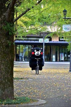 :) Kumamon on a bike!