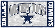Dallas Cowboys We Dem Boys - Mirrored License Plate - Car Truck