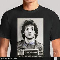Buy Rambo They Drew The First Blood Cream T-shirt Tee. For John Rambo, the Vietnam War never ended. From the rainy mountains in First Blood to the jungles in Rambo, Sly Stallone's iconic underdog badass . Rambo 4, John Rambo, Cream T Shirts, First Blood, Tiger Shroff, Rocky Balboa, Sylvester Stallone, Tee Shirts, Tees