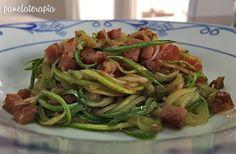 Panelaterapia | Espaguete de Abobrinha com Bacon | http://panelaterapia.com
