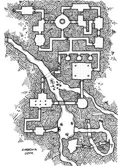 an atempt for a bigger dungeon, rpg dungeon map ... thanks to dyson logo for his tutorial... by unknown user