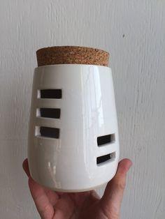 Porcelain Garlic keeper