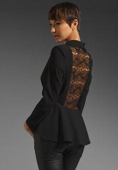 JARLO Daniela Lace Peplum Blazer in Black at Revolve Clothing - Free Shipping!