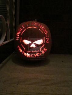 Harley Davidson Pumpkin