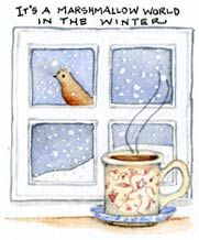 It's A Marshmallow World In The Winter ~ Susan Branch ~ Willard ~ December, 2012