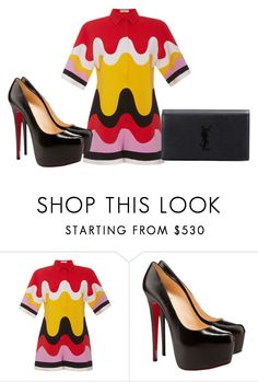 """""""Sem título #7530"""" by ana-sheeran-styles ❤ liked on Polyvore featuring Emilio Pucci, Christian Louboutin and Yves Saint Laurent"""