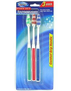 Rubber Grip Toothbrushes (Case of Shelter, Packing, Personal Care, Amazon, Tableware, Health, How To Make, Bag Packaging, Dinnerware
