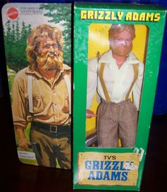 MATTEL: 1978 Grizzly Adams Action Figure Doll #Vintage #Toys