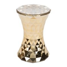 Add unique style to any space with this Stone stool from Kartell. Designed by Marcel Wanders it features a geometrical shape that is reminiscent of an hourglass, with a metallic gold coloured finish.